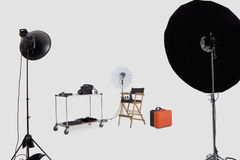 Lighting equipments in photographer's studio Stock Photography