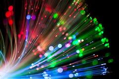Lighting för optisk fiber Arkivbild