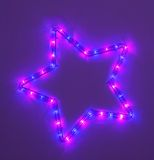 Lighting five-pointed star