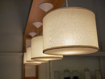 Lighting. Fixtures with four in a row royalty free stock photo