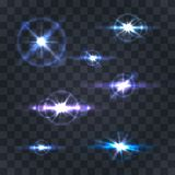 Lighting flare collection. Lighting flare collection on a transparent background . Vector illustration Vector Illustration