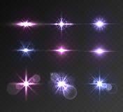 Lighting flare set Stock Images
