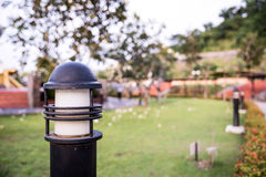 Lighting in the garden. Trimmed with green background Royalty Free Stock Photography