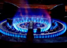 Lighting gas burner Royalty Free Stock Photography