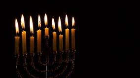 Lighting Hanukkah Candles Hanukkah celebration. Jewish holiday hannukah symbols Lighting Hanukkah Candles Hanukkah celebration judaism menorah tradition stock footage