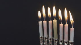 Lighting Hanukkah Candles Hanukkah celebration stock footage