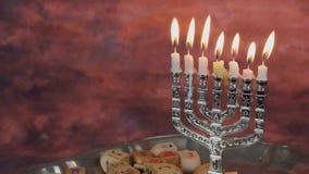 Lighting Hanukkah Candles Hanukkah celebration stock video footage