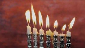 Lighting Hanukkah Candles Hanukkah celebration stock video