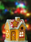 Lighting house and christmas tree Royalty Free Stock Photo