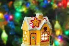 Lighting house and christmas tree Stock Photography