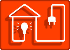 Lighting in the house symbol Stock Image