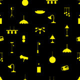 Lighting icons pattern Royalty Free Stock Photo