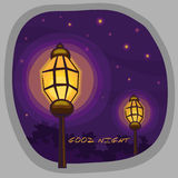 LIGHTING. Illustration of LIGHTING with beautiful colour and stars on the sky Stock Images