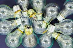 Lighting. Incandescent wire shot on black background Royalty Free Stock Photo