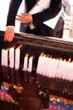 Lighting incense Royalty Free Stock Photo