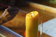 lighting incense stick stock photography