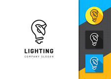 Lighting and lamp logo, Concept lamps store, Brand identity graphics Royalty Free Stock Photos