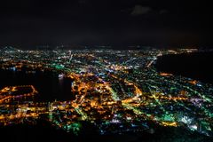 Lighting in big city of Japan town. Stock Images