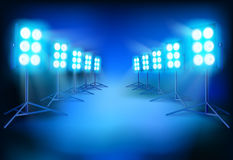 The lighting on a movie set. Vector illustration. Stock Image