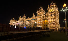 Lighting at Mysore Palace Royalty Free Stock Photography
