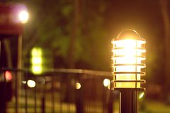 Lighting night. The lighting night.light is focusing and bright all elements things Royalty Free Stock Photo