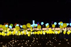 The lighting of the night square stock photos