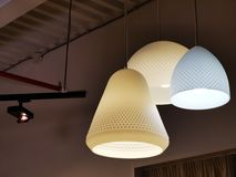 Lighting objects different forms and design. In a room -  modern design royalty free stock images