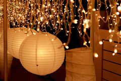 lighting in paper lantern decoration