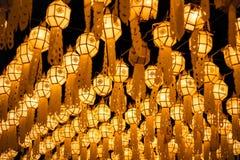 Lighting paper lantern scene Royalty Free Stock Photos