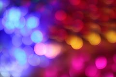 Lighting pink red blue multi color bokeh background, luxury night abstract lights bokeh night light blur colorful fun party stock photography