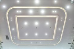 Led ceiling of Modern commercial building stock images