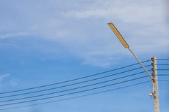 Lighting pole with blue Sky Stock Photos