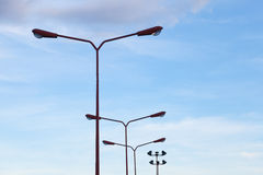 Lighting poles Royalty Free Stock Photo