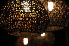Lighting in restaurant. Close up Stock Images
