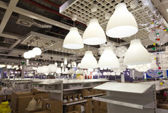 Lighting sales area Royalty Free Stock Photography