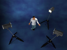 Lighting setup studio Royalty Free Stock Photography