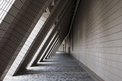 Lighting and shadow modern architecture Royalty Free Stock Images