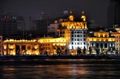 lighting shanghai för porslin för byggnadsbundaffär royaltyfria foton