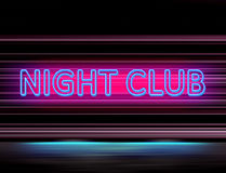 Lighting sign of night club. Colored lighting sign of night club royalty free illustration