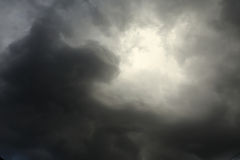 Lighting in the sky thunderstorm clouds Royalty Free Stock Photography