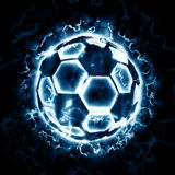 Lighting soccer ball. For your design Royalty Free Stock Photography