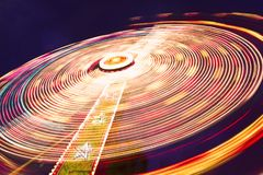Spinning wheel in the amusement park Royalty Free Stock Photography