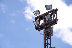 Lighting stadium. Lighting tower of stadium, Thailand Royalty Free Stock Photo