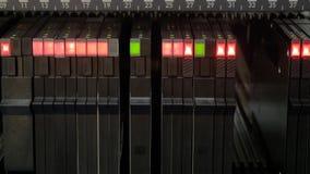 Lighting status indicator signals on electric control panel of SMD machine