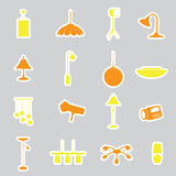 Lighting stickers set eps10 Stock Photos