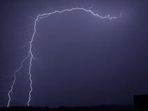 Lightning storm. Storm lightning weather night rain Stock Photos