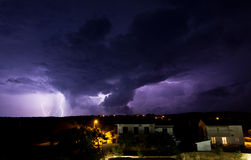 Lighting storm Stock Photography