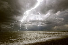 The lighting storm. The amazing lighting storm landcscape Royalty Free Stock Images