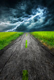Lighting storm road abstract Royalty Free Stock Photos