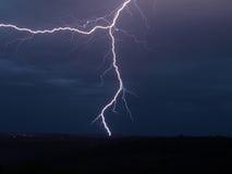 Lightning storm. Storm lightning weather night rain Royalty Free Stock Photo